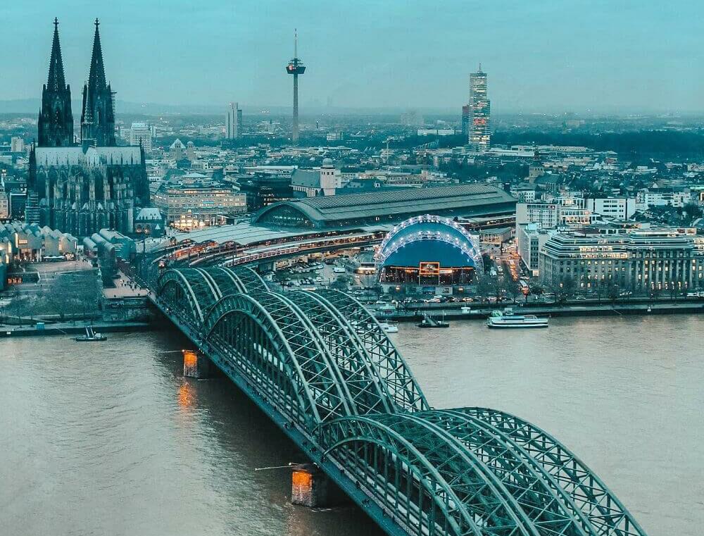 Cosa vedere in due giorni a Colonia - Koln triangle per panorama