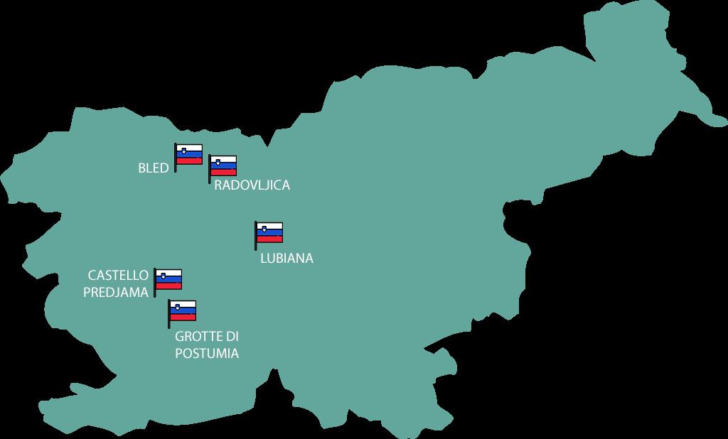 mappa slovenia itinerario 4 giorni
