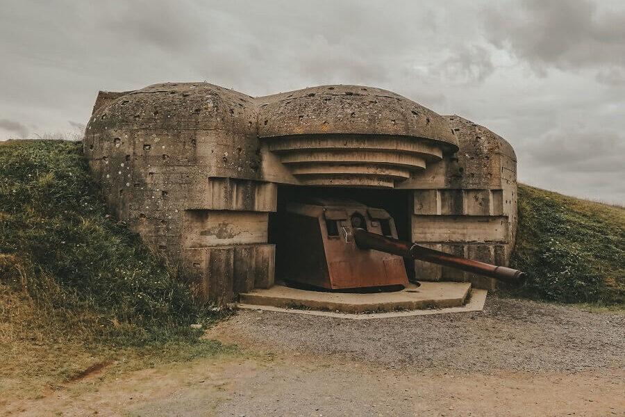 Cannoni tedeschi longues sur mer d-day