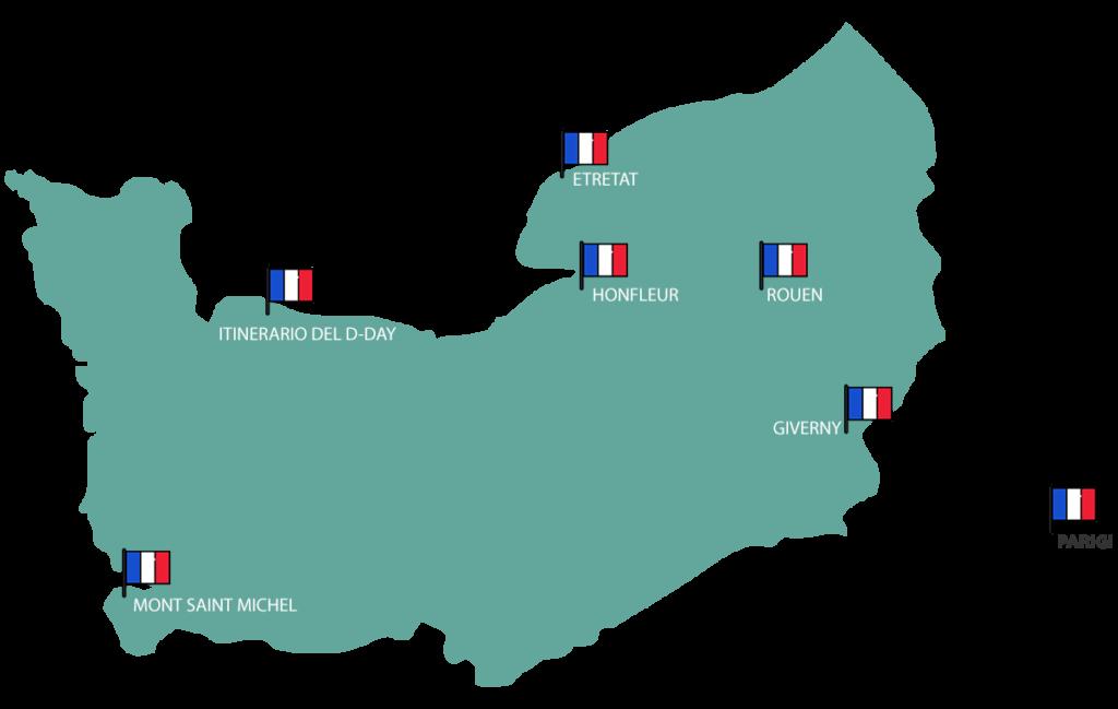 Itinerario in Normandia - 3 giorni in Normandia