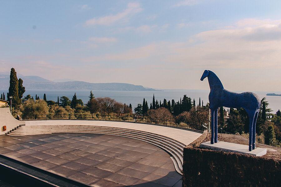 Vista lago di Garda Vittoriale degli Italiani