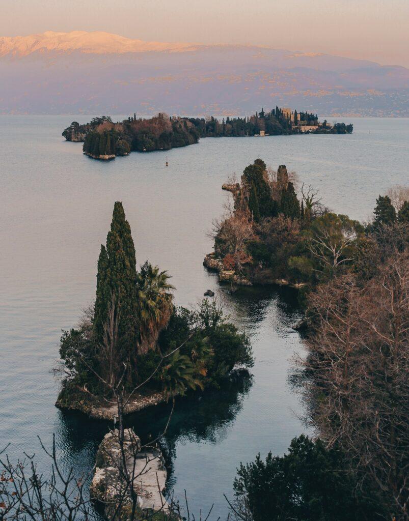 tramonto lago di garda isola del garda