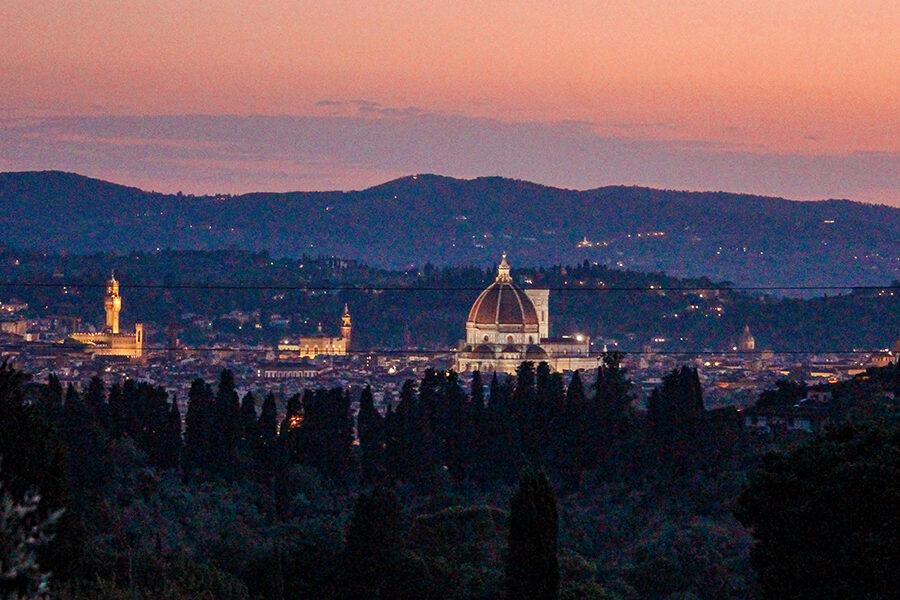 Firenze dall'alto tramonto